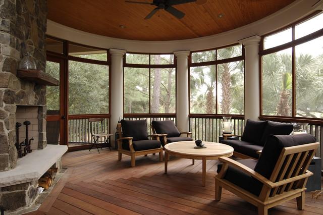 The Big Kids Treehouse Kiawah Island, SC tropical-porch