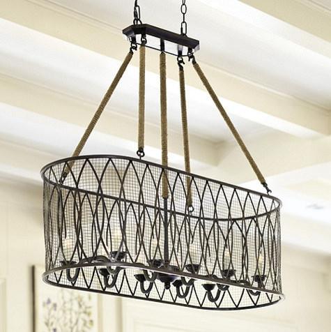 Denley 10-Light Pendant Chandelier industrial-chandeliers