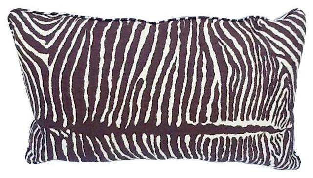 SOLD OUT! Zebra Print Linen Lumbar Throw Pillow - NEW - $375 Est. Retail - $175 decorative-pillows