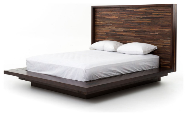 Parker platform bed queen contemporary platform beds by marco polo imports - Benefits of contemporary queen bed ...