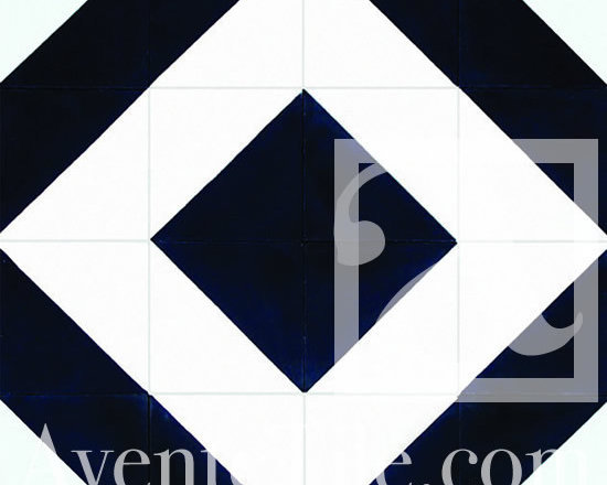 "Geometric Geo 04 Cement Tile 8"" x 8"" -"