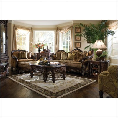 aico furniture essex manor wood trim chair and a half