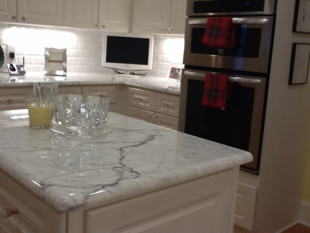 Statuary Marble traditional-kitchen