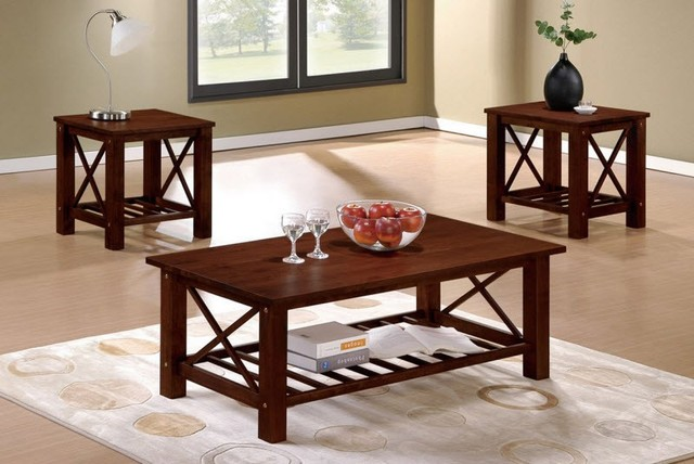 Poundex Furniture - 3-Pcs Table Set - F3128 contemporary-coffee-tables