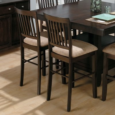 Jofran Bakers Cherry Counter Height Chair - 2 Chairs modern-chairs