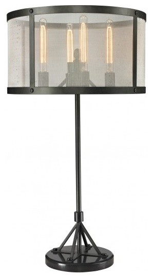 Riveted Mesh Table Lamp Industrial Table Lamps Other