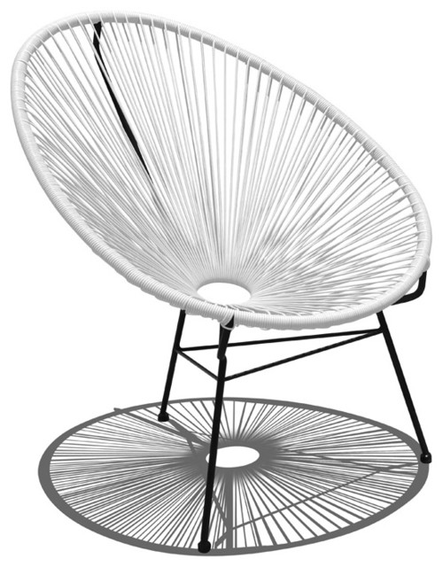 Acapulco Patio Chair, White Lightning modern-outdoor-chairs