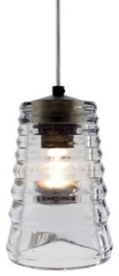 Pressed Glass Pendant - Tube by Tom Dixon pendant-lighting