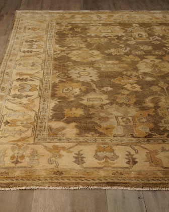 """Exquisite Rugs """"Oak Lea"""" Oushak Rug, 12' x 15' traditional-rugs"""