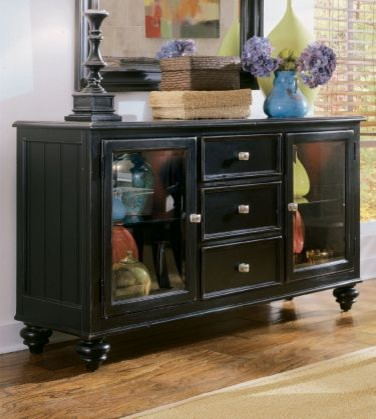 American Drew 919-830 Buffet / Credenza Camden - Black traditional-buffets-and-sideboards