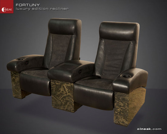 CINEAK Fortuny Luxury Edition Home Theater Seats - The FORTUNY has been our best-seller for the past 10 years and continues to revolutionize the home theater seating market due to its comfort, luxurious presence and quality craftsmanship.