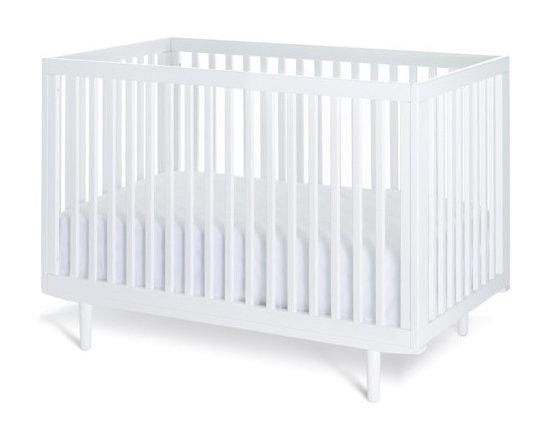 All Slat Ray Crib, White -