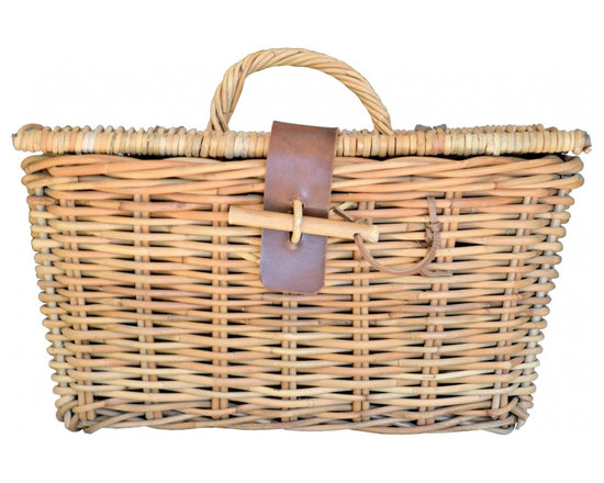 Picnic Basket - Heading out to watch the sunset? Fill this perfect picnic basket with some wine and cheese. Backyard BBQ? Set it on the buffet table and open the top to display your napkins and silverware.