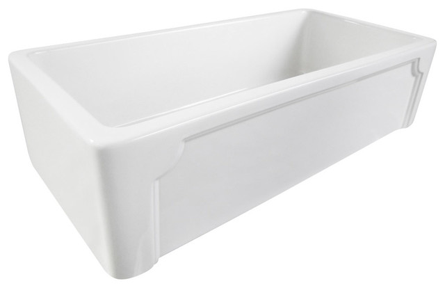 36 White Farmhouse Sink : All Products / Kitchen / Kitchen Sinks and Faucets / Kitchen Sinks