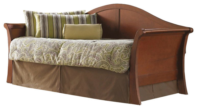 Fashion Bed Stratford Daybed with Euro Top Spring and Trundle in Mahogany transitional-indoor-chaise-lounge-chairs