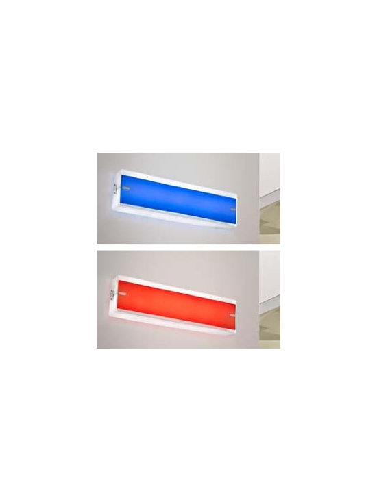 Reflex Wall Lamp \ Sconce By Leucos Lighting - Reflex from Leucos is a wall unit made from meth-acrylate available in six different color versions including, white, red, blue, purple, and cream.