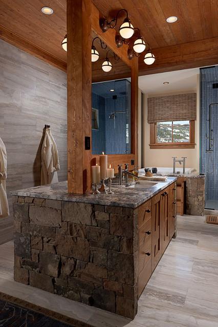 Modern rustic bathroom bathroom vanity lighting by for Houzz rustic lighting