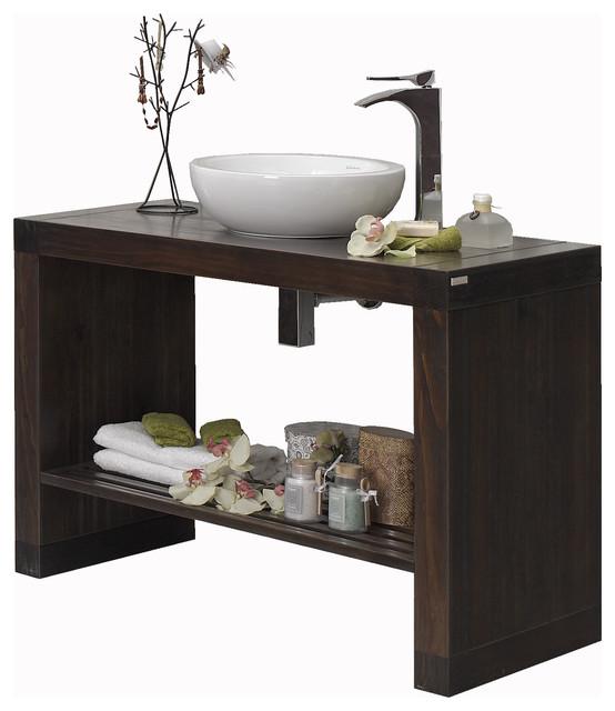 """Macral Nordico 40"""" bathroom vanity. Glazed walnut. contemporary-bathroom-vanities-and-sink-consoles"""