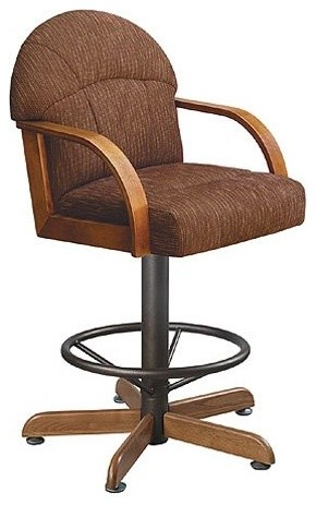Mitchell 24 Inch Swivel Counter Stool With Arms Textured