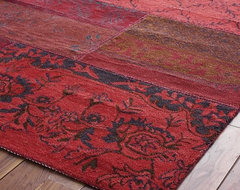 Cadiz Rug, Red eclectic-rugs