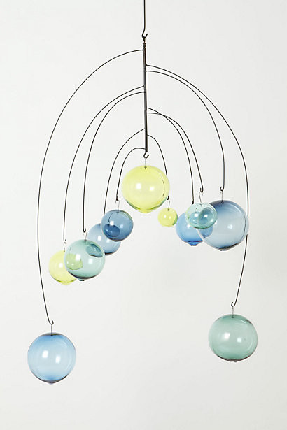Zephyrine Mobile, Blue contemporary-mobiles
