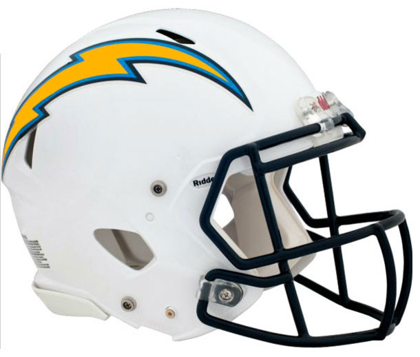 San Diego Chargers Decals: NFL San Diego Chargers Teammate Helmet 3pc Wall Sticker