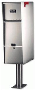 Supreme Letter Locker Mailbox, Stainless Steel Supreme, Tan modern-mailboxes