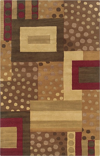 Arts and Crafts - Mission Craft Collection Atlanta 2'x3' Area Rug modern-rugs