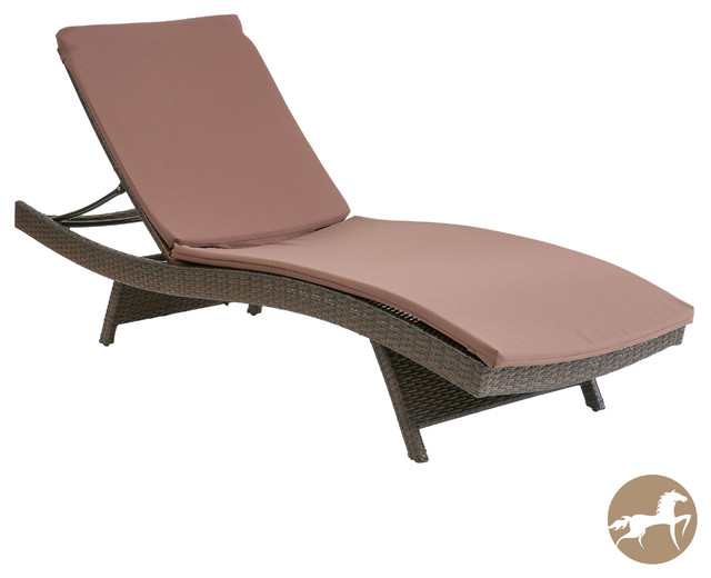 Christopher Knight Home Brown Lounge Chair Cushions Contemporary Outdoor