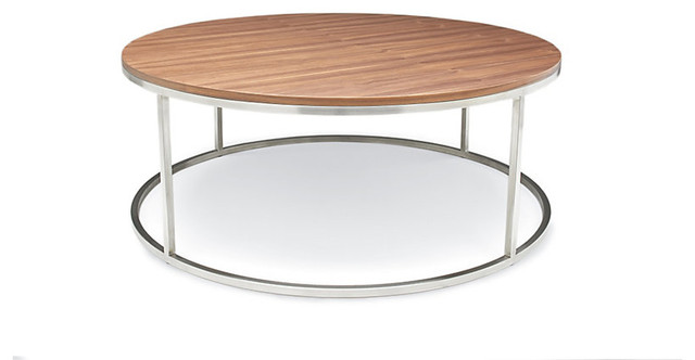 Rubik Round Coffee Table Oak Modern Coffee Tables By Design Within Reach