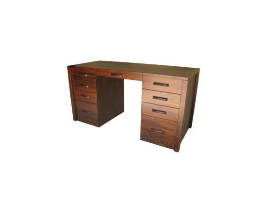 Creative Home Furnishings - Boxwood Furniture - Boxwood 9 Drawer Desk