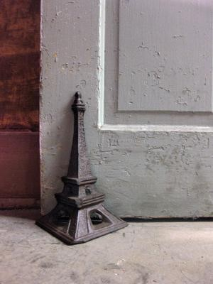 eiffel tower door stop or bookend  accessories and decor