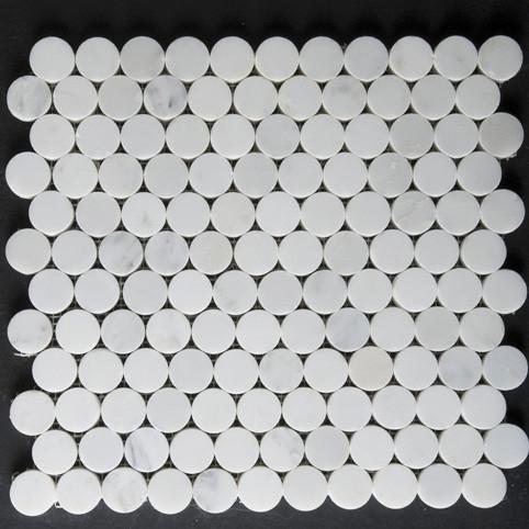 Calacatta Mini-Round Mosaic tile