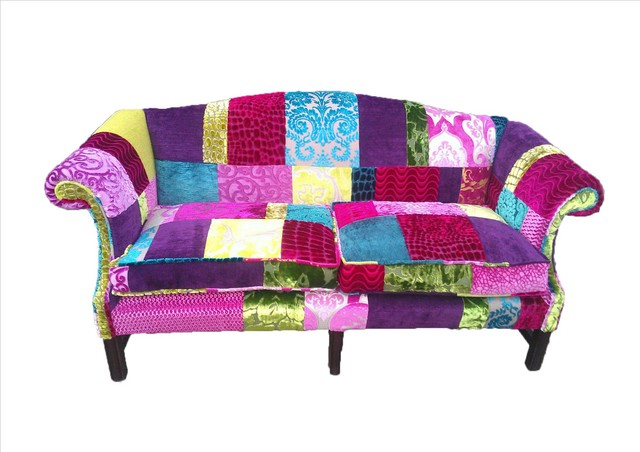 patchwork sofa designers guild fabric eclectic sofas. Black Bedroom Furniture Sets. Home Design Ideas