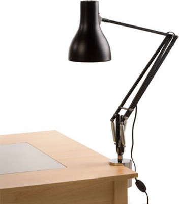 Typr 75 desk lamp with clip modern desk lamps miami by axis