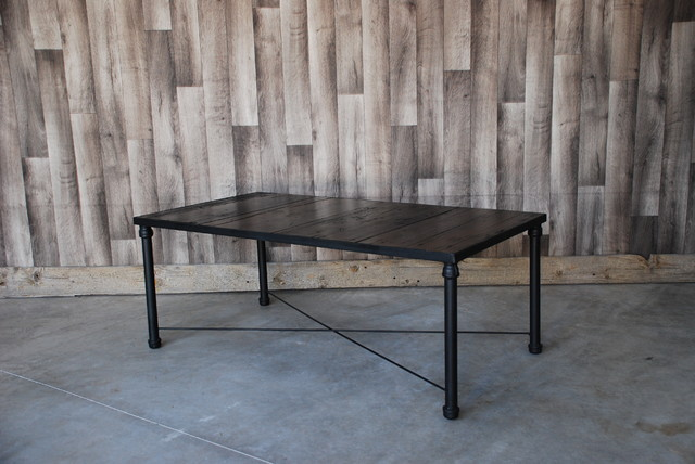Reclaimed wood iron coffee table Rustic iron coffee table
