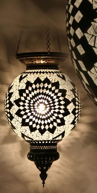 Turkish Style Mosaic Pendant Lamp 30cm Mediterranean