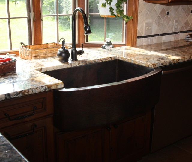 Bowed Apron Sink - Traditional - Kitchen Sinks - cleveland ...