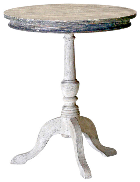 Garland Swedish Gustavian White Wash Pedestal Round End
