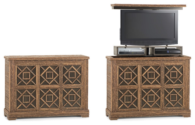 Rustic TV Lift Cabinet by La Lune Collection - Rustic - Entertainment ...