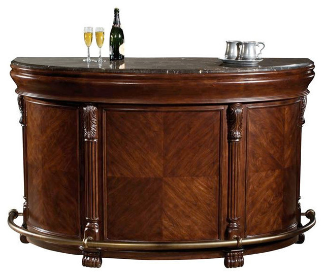 Locking Niagara Fold Out Bar Cabinet - Contemporary - Wine And Bar Cabinets - by ivgStores