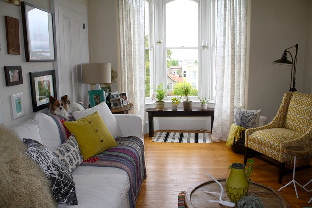 Eclectic flat eclectic living room kansas city by for Modern eclectic living room