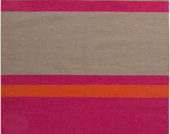 Surya Frontier FT-566 5' x 8' Ash Gray, Hot Pink Rug contemporary-rugs
