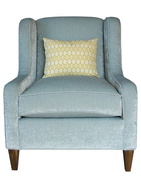 PURE Inspired Design - Carmel Eco-Friendly Accent Chair, Dark Gray Plush - Oeko-Tex, Carmel Chair - Our Carmel Accent Chair is very inviting.  It is eye catching with the modern wings, low arms, and tight back.  Our solid base fabrics coordinate with our patterned organic fabrics.  We build healthy, quality, made in the USA furniture!