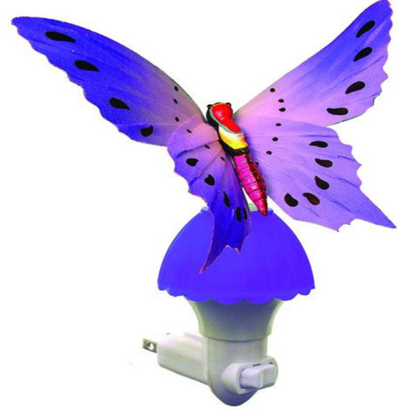 Fiber Optic Color Changing Butterfly Light, Purple eclectic-kids-lighting