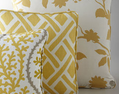 Yellow, Citron, & Gray Pillows contemporary pillows