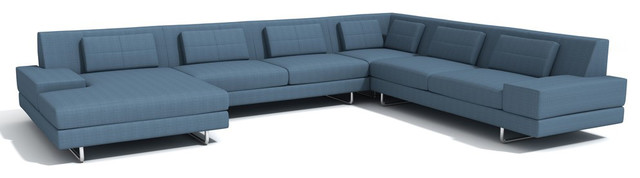TrueModern Hamlin Corner Sectional with Chaise modern-sectional-sofas