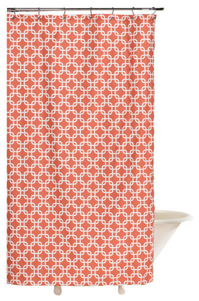 Shower Curtain Coral Metro Contemporary Shower Curtains By American Ma
