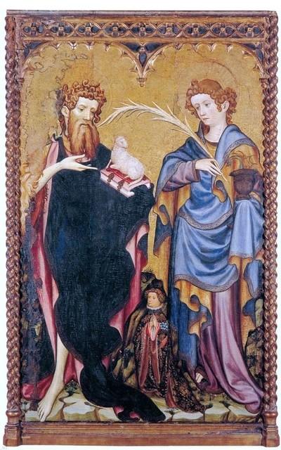 Joan Mates Sts John the Baptist and John the Evangelist Print traditional-artwork