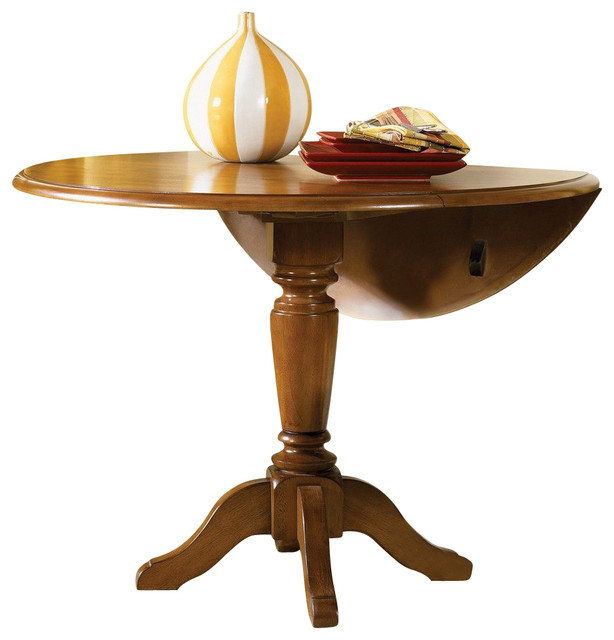 Liberty furniture low country bronze 42 inch round drop for 42 dining table with leaf